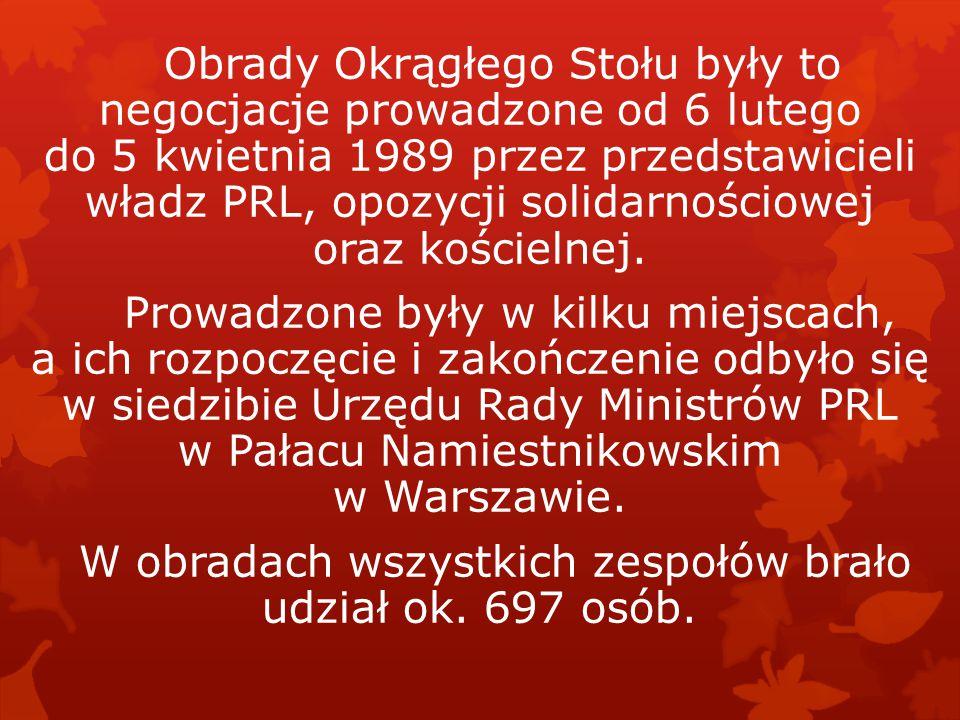 Historia obrad Okrągłego Stołu z 1989r. i pierwszych demokratycznych wyborów w Polsce.