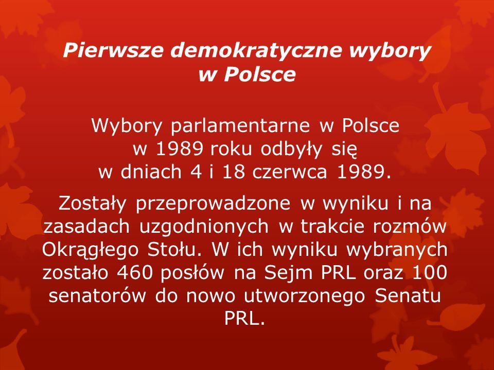 Postanowienia:  utworzenie Senatu z liczbą 100 senatorów; wybory większościowe;  kwotowe wybory do Sejmu – 65% miejsc miało być zagwarantowane dla P