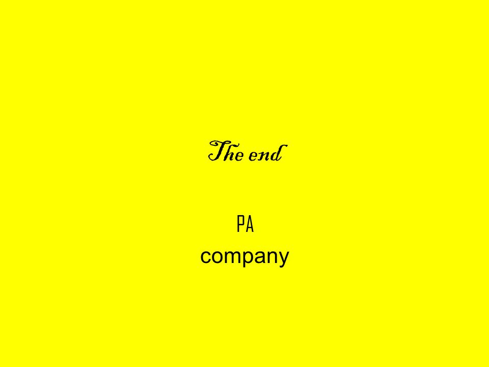 The end PA company