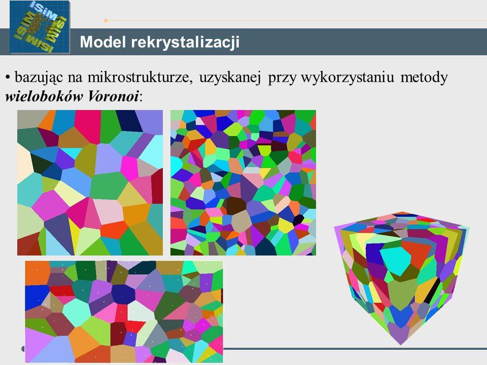 bazując na mikrostrukturze, uzyskanej przy wykorzystaniu metody wieloboków Voronoi: Model rekrystalizacji