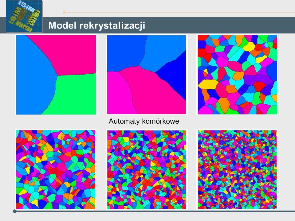 Automaty komórkowe Model rekrystalizacji