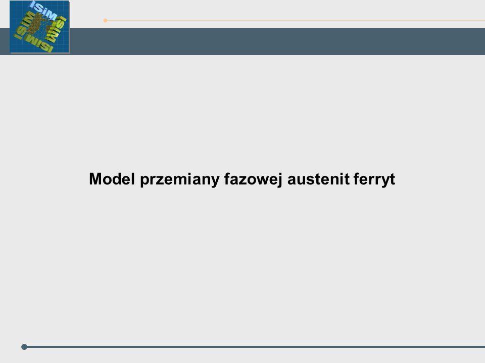 Model przemiany fazowej austenit ferryt