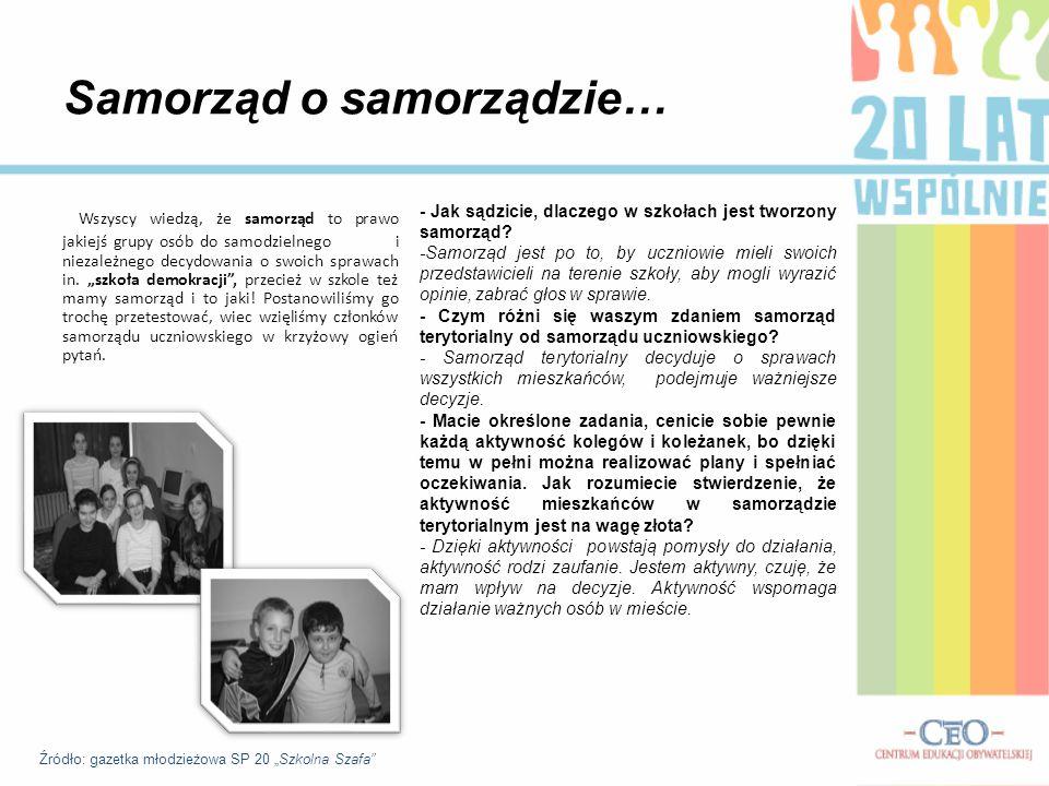 Moje miasto - D ą browa Górnicza W ramach akcji postanowiliśmy również sprawdzić, czy nasi koledzy i koleżanki poznają miasto.