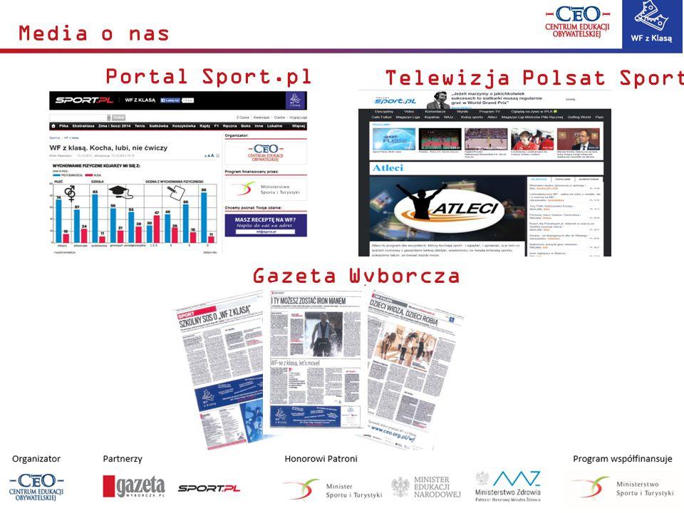 Media o nas Telewizja Polsat Sport Portal Sport.pl Gazeta Wyborcza