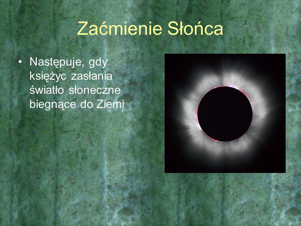 Zaćmienie Słońca Następuje, gdy księżyc zasłania światło słoneczne biegnące do Ziemi