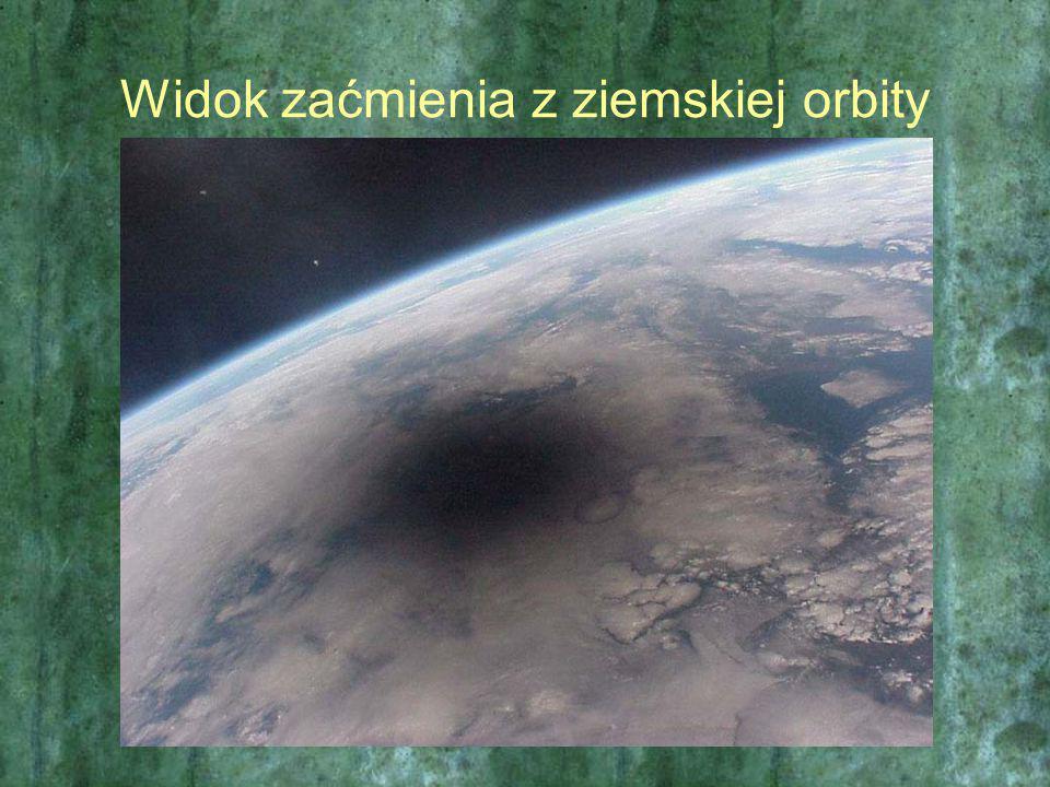Widok zaćmienia z ziemskiej orbity