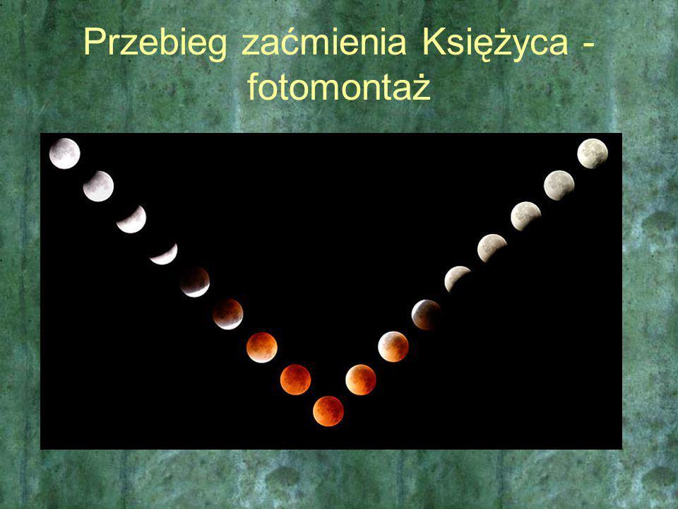 Przebieg zaćmienia Księżyca - fotomontaż