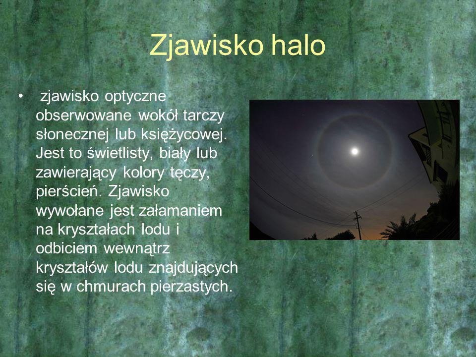 Zjawisko halo zjawisko optyczne obserwowane wokół tarczy słonecznej lub księżycowej. Jest to świetlisty, biały lub zawierający kolory tęczy, pierścień