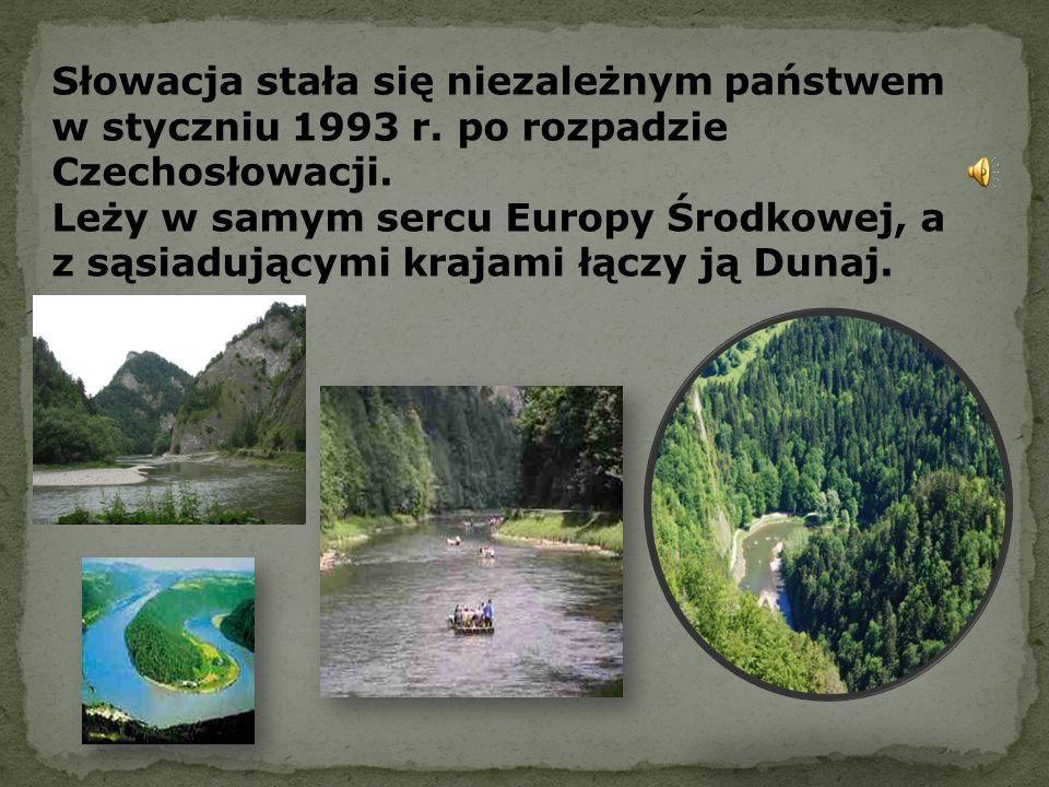 Słowacja stała się niezależnym państwem w styczniu 1993 r. po rozpadzie Czechosłowacji. Leży w samym sercu Europy Środkowej, a z sąsiadującymi krajami