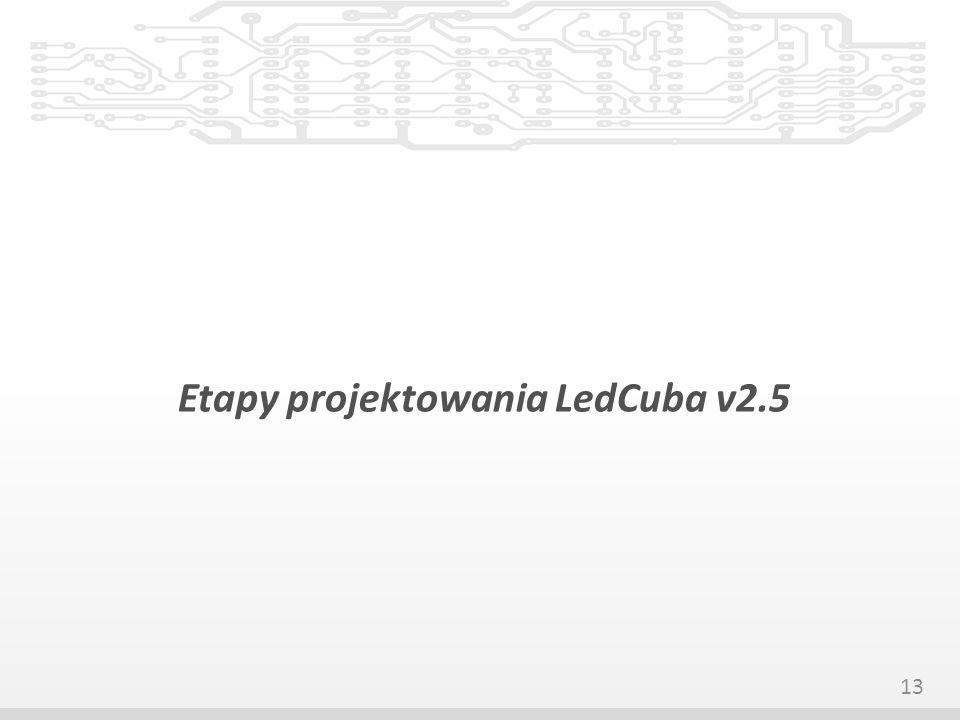 Etapy projektowania LedCuba v2.5 13