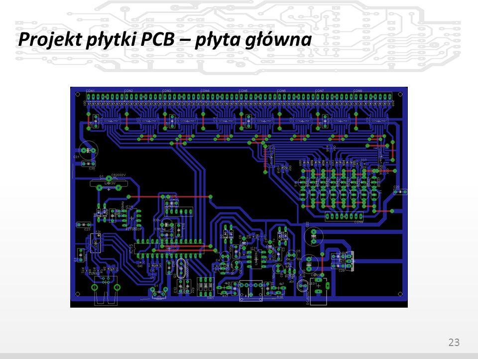 Projekt płytki PCB – płyta główna 23