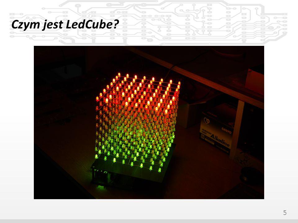 Ewolucja naszego LedCuba LedCube v1 – Prosty, jednokolorowy wyświetlacz o wymiarach 8x8x8, sterowany przez komputer (port drukarkowy) – Zbudowany w celu przetestowania układu sterowania diod oraz przećwiczenia montażu mechanicznego kostki 6