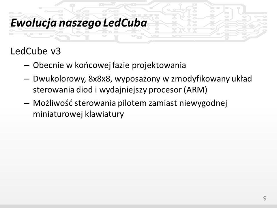 Ewolucja naszego LedCuba LedCube v3 – Obecnie w końcowej fazie projektowania – Dwukolorowy, 8x8x8, wyposażony w zmodyfikowany układ sterowania diod i