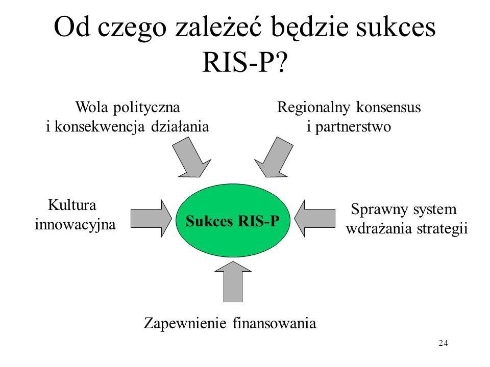 24 Od czego zależeć będzie sukces RIS-P.