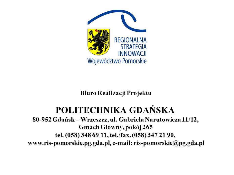 80-952 Gdańsk – Wrzeszcz, ul.Gabriela Narutowicza 11/12, tel.