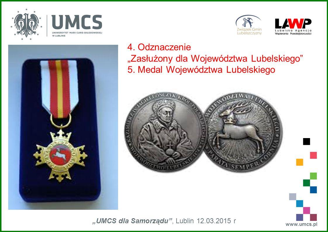 """www.umcs.pl """"UMCS dla Samorządu , Lublin 12.03.2015 r Herby gmin województwa lubelskiego zaprojektowane w XXI w."""