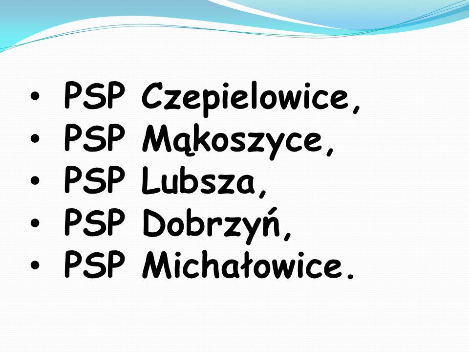 PSP Czepielowice, PSP Mąkoszyce, PSP Lubsza, PSP Dobrzyń, PSP Michałowice.