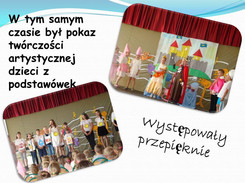 W tym samym czasie był pokaz twórczości artystycznej dzieci z podstawówek Wyst ę powały przepi ę knie!