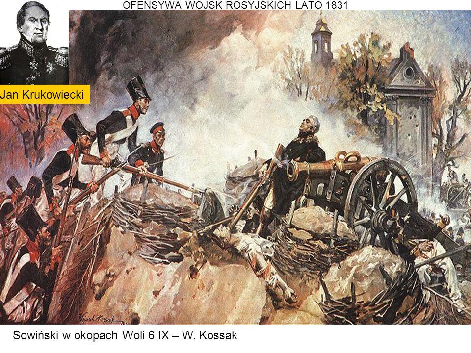 OFENSYWA WOJSK ROSYJSKICH LATO 1831 Sowiński w okopach Woli 6 IX – W. Kossak Jan Krukowiecki