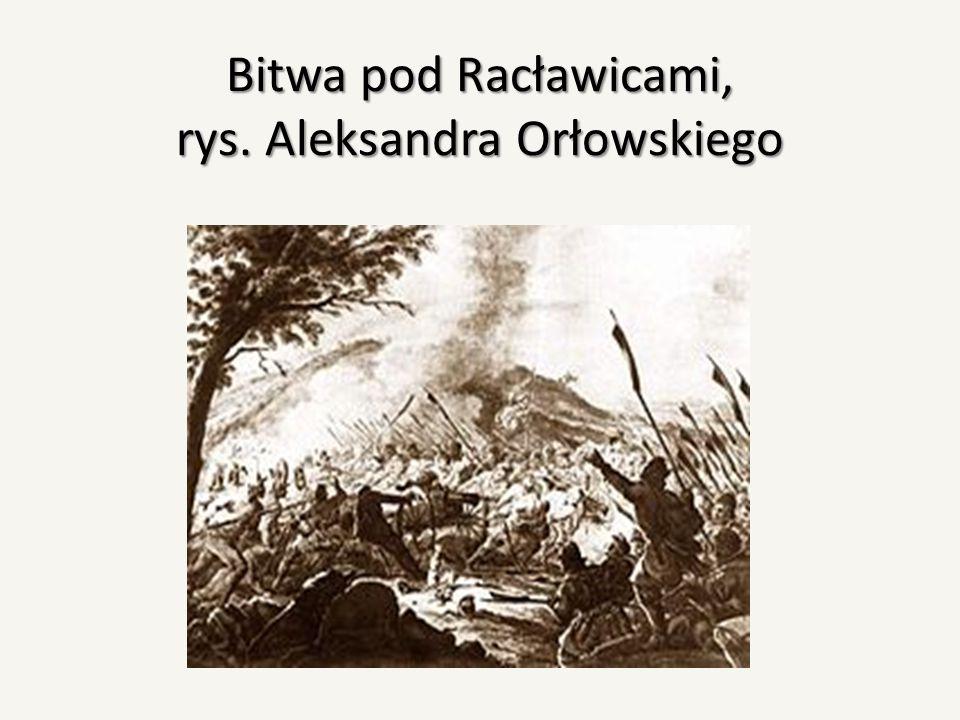 Bitwa pod Racławicami, rys. Aleksandra Orłowskiego