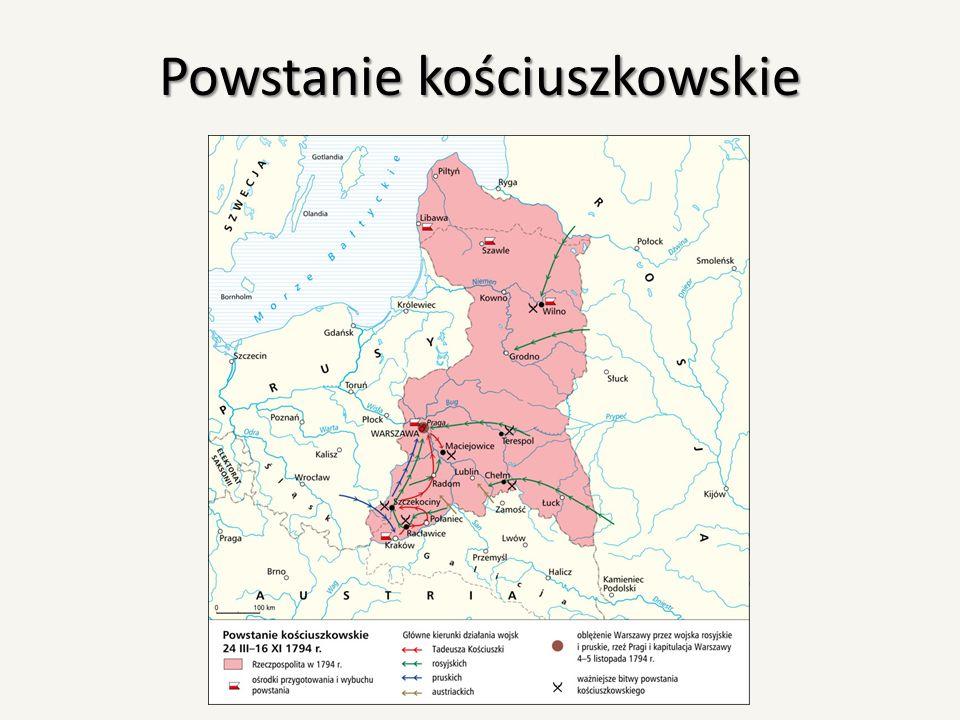 Skutki powstania Powstanie zakończyło się całkowitą klęską, po której nastąpił III rozbiór Polski.