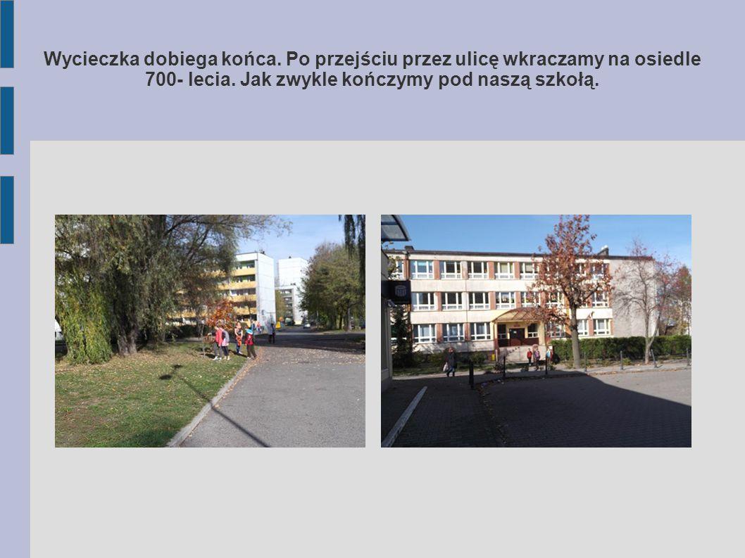 Przejście przez miejskie targowisko i znowu znajdujemy się na Al. Wojska Polskiego. Tym razem chętnie zwiedzamy plac zabaw.