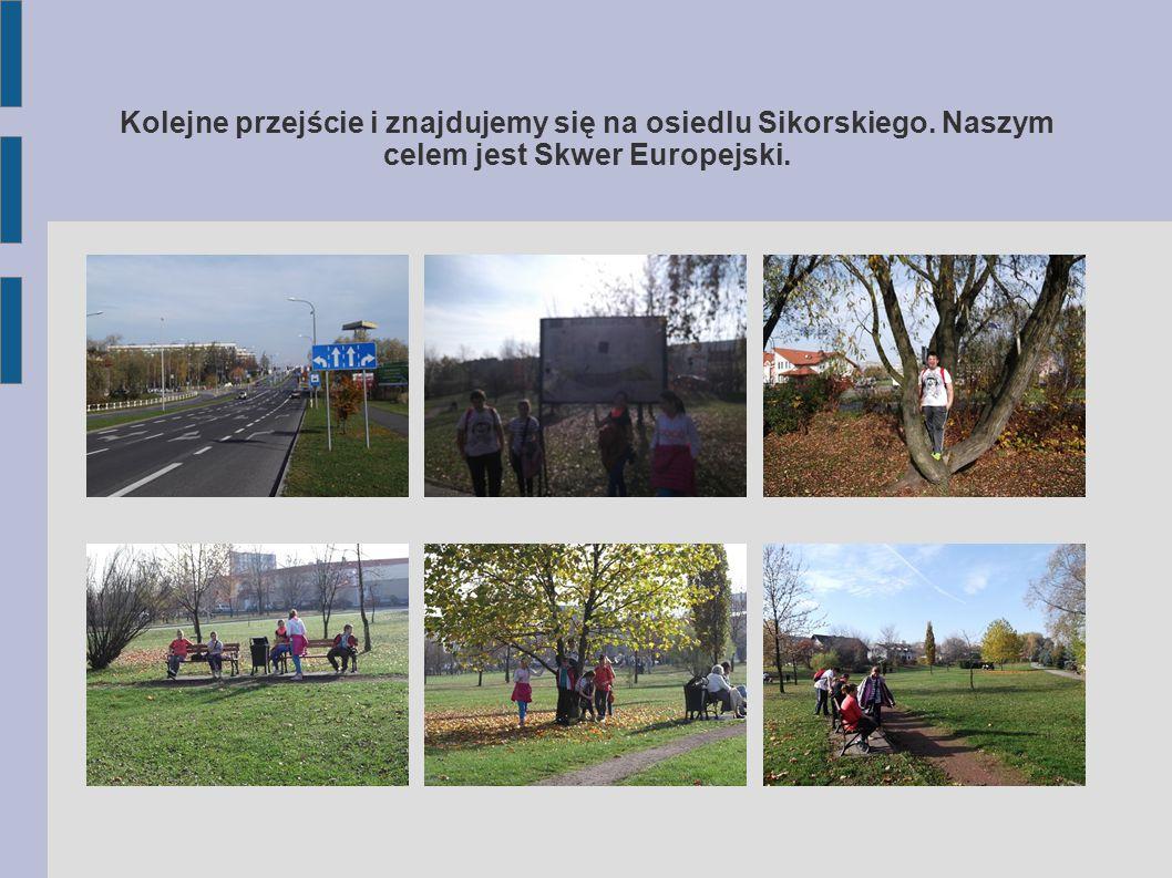 Kolejne przejście i znajdujemy się na osiedlu Sikorskiego. Naszym celem jest Skwer Europejski.