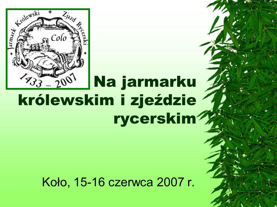 Na jarmarku królewskim i zjeździe rycerskim Koło, 15-16 czerwca 2007 r.