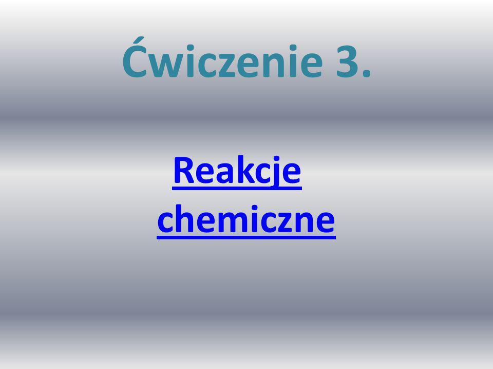 Ćwiczenie 3. Reakcje chemiczne
