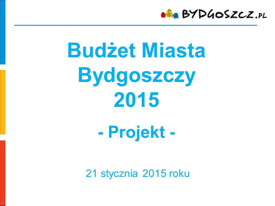 Budżet Miasta Bydgoszczy 2015 - Projekt - 21 stycznia 2015 roku