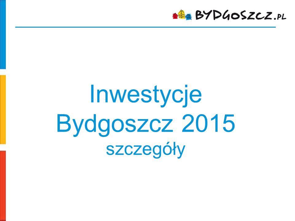 Inwestycje Bydgoszcz 2015 szczegóły