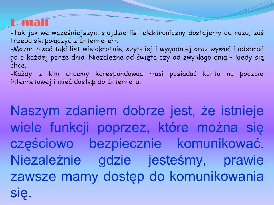 Korzystanie z Internetu Z ''netu'' można korzystać na wiele sposobów-dobrze i źle.