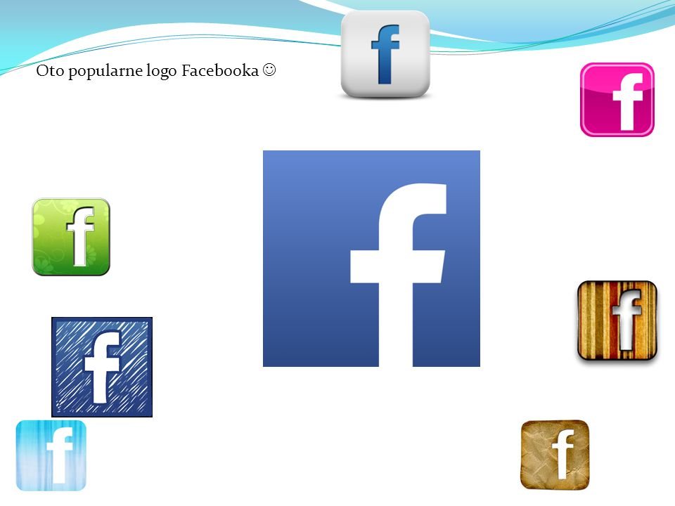 Oto popularne logo Facebooka