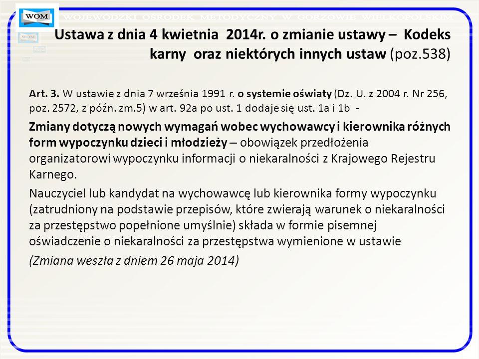 Ustawa z dnia 4 kwietnia 2014r.