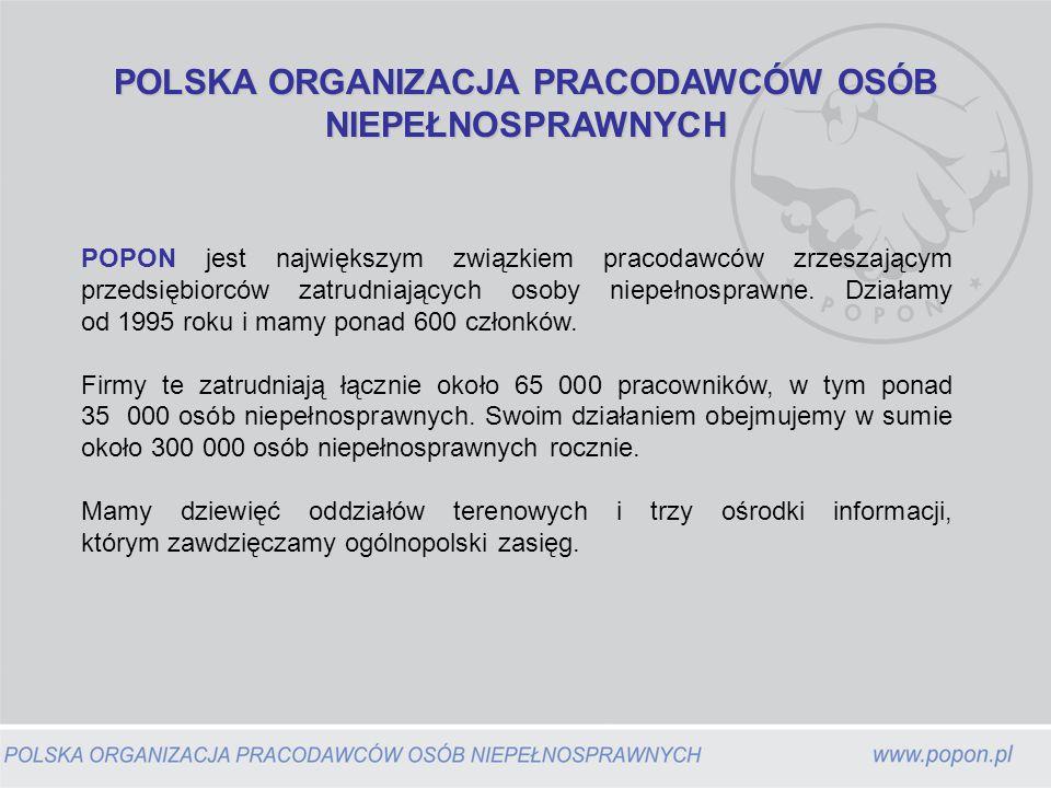 Polska Organizacja Pracodawców Osób Niepełnosprawnych Oddział Pomorski w Gdańsku ul.