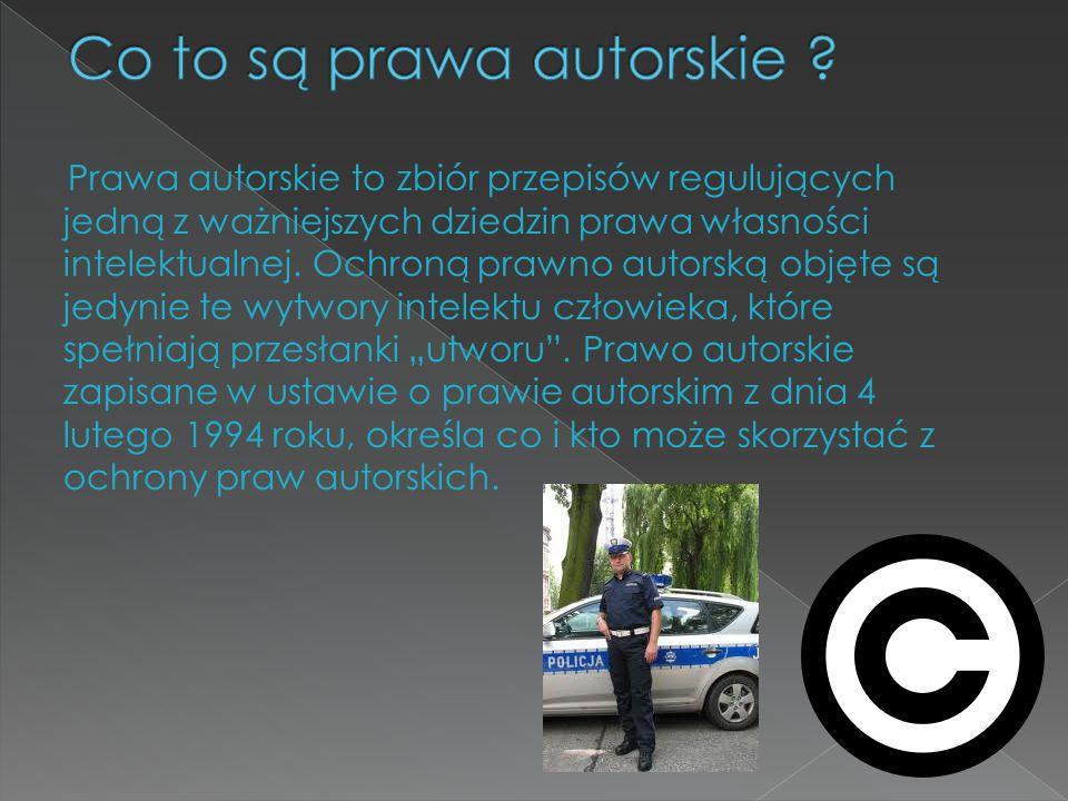 Prawa autorskie to zbiór przepisów regulujących jedną z ważniejszych dziedzin prawa własności intelektualnej. Ochroną prawno autorską objęte są jedyni