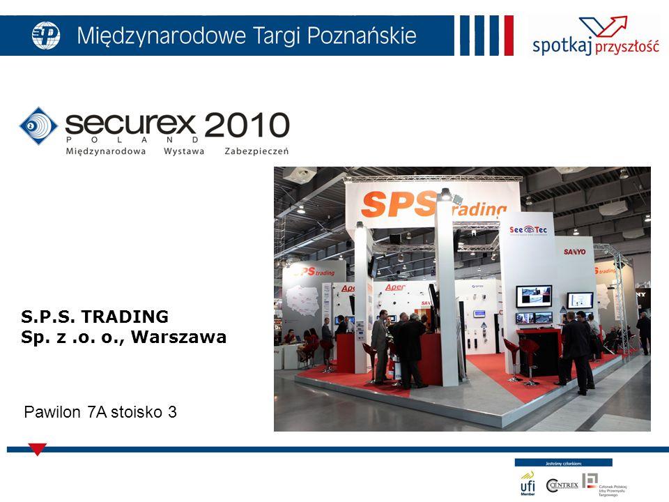 S.P.S. TRADING Sp. z.o. o., Warszawa Pawilon 7A stoisko 3