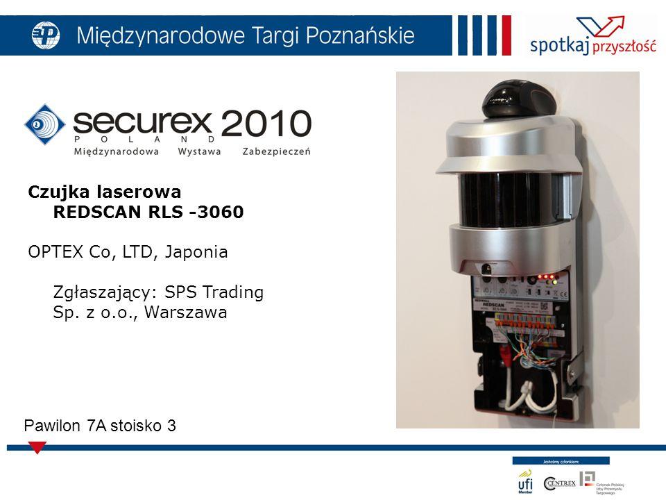 7 Pawilon 7A stoisko 3 Czujka laserowa REDSCAN RLS -3060 OPTEX Co, LTD, Japonia Zgłaszający: SPS Trading Sp.