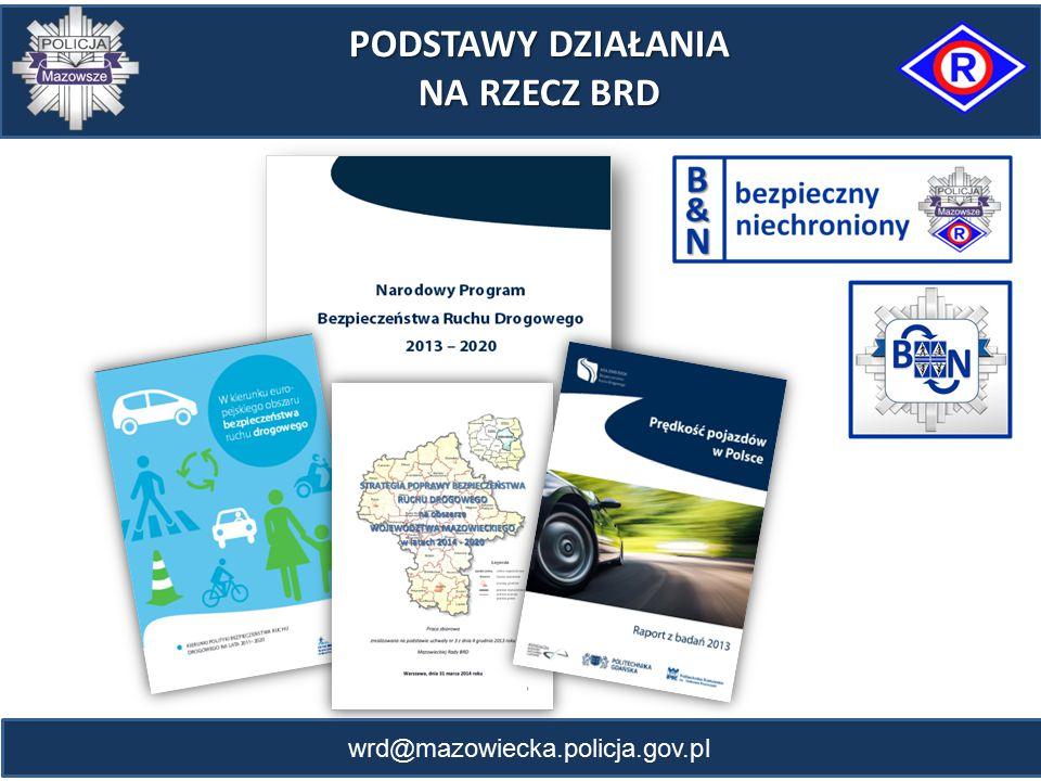 wrd@mazowiecka.policja.gov.pl PODSTAWY DZIAŁANIA NA RZECZ BRD