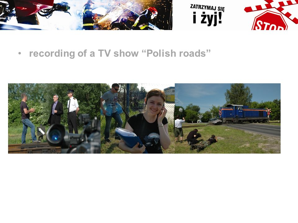 "recording of a TV show ""Polish roads"""