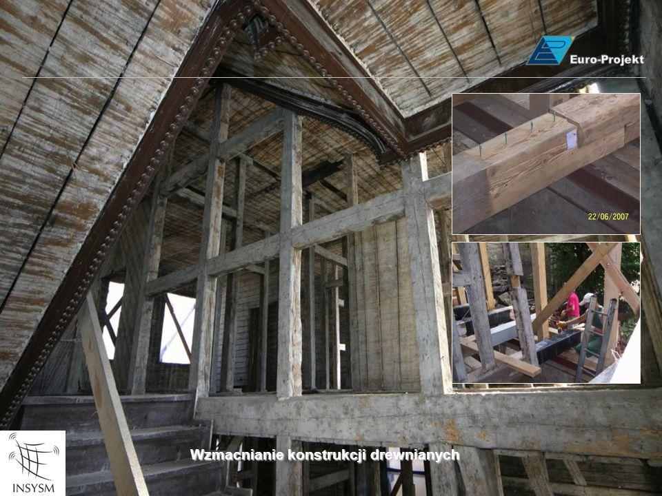 Wzmacnianie konstrukcji drewnianych