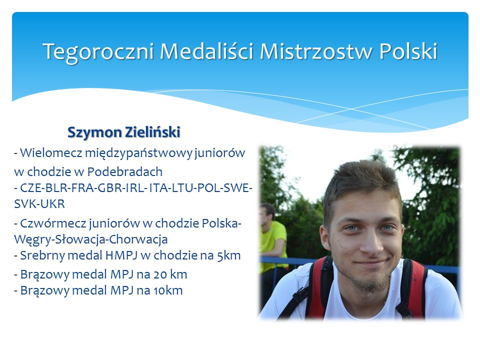 Szymon Zieliński - Wielomecz międzypaństwowy juniorów w chodzie w Podebradach - CZE-BLR-FRA-GBR-IRL- ITA-LTU-POL-SWE- SVK-UKR - Czwórmecz juniorów w c