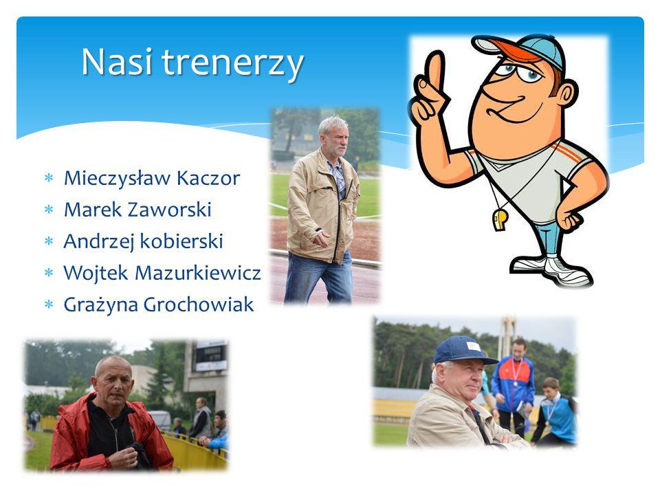  Mieczysław Kaczor  Marek Zaworski  Andrzej kobierski  Wojtek Mazurkiewicz  Grażyna Grochowiak Nasi trenerzy