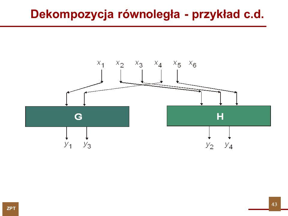 ZPT Dekompozycja równoległa - przykład c.d. 43