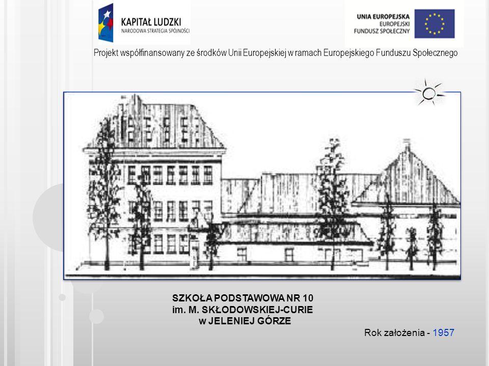 Projekt współfinansowany ze środków Unii Europejskiej w ramach Europejskiego Funduszu Społecznego Od 7 lutego 2014r.
