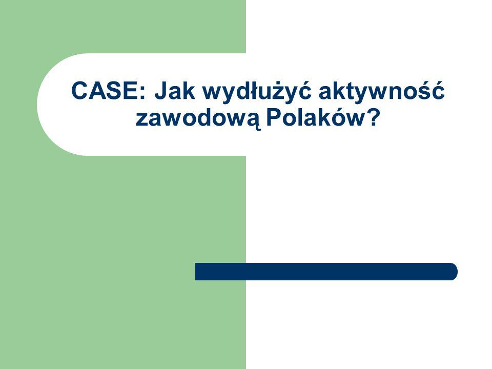 CASE: Jak wydłużyć aktywność zawodową Polaków?