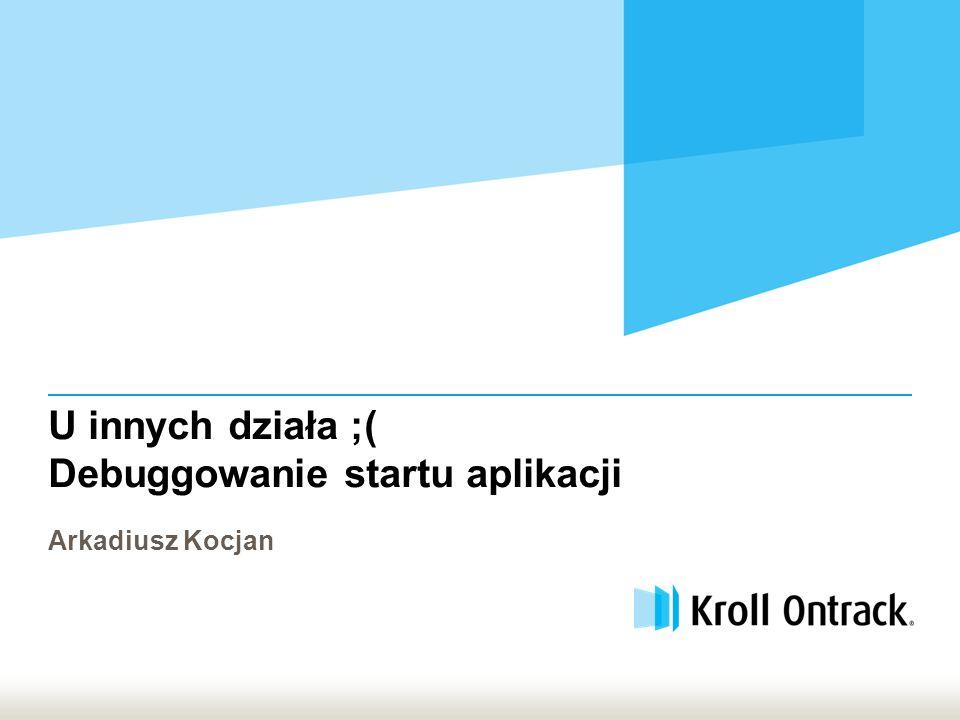 Proprietary | Kroll Ontrack 2 Przydatne linki  Process Monitor http://technet.microsoft.com/pl-pl/sysinternals/bb896645.aspx http://blogs.technet.com/b/markrussinovich/  Fusion Log http://msdn.microsoft.com/en-us/library/e74a18c4%28v=vs.110%29.aspx  Windows Error Reporting http://msdn.microsoft.com/en-us/library/windows/desktop/bb513641.aspx