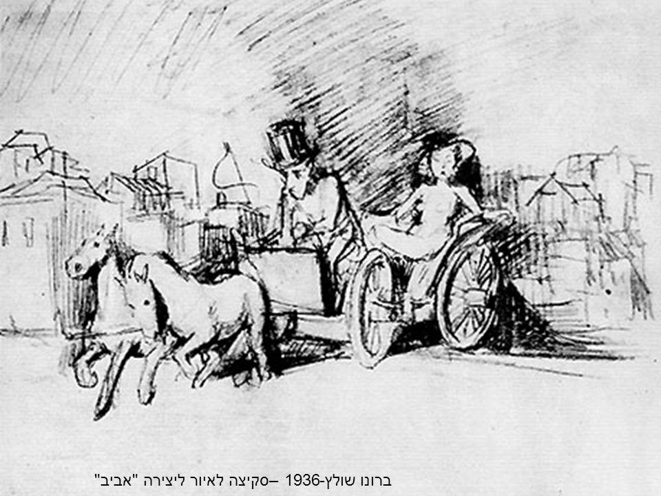 ברונו שולץ-1936 –סקיצה לאיור ליצירה