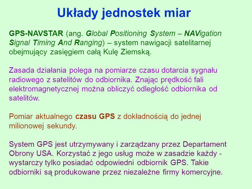 GPS-NAVSTAR (ang. Global Positioning System – NAVigation Signal Timing And Ranging) – system nawigacji satelitarnej obejmujący zasięgiem całą Kulę Zie