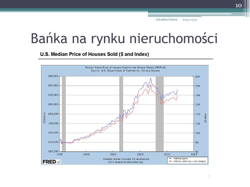 Bańka na rynku nieruchomości 2015-03-31Arkadiusz Sieroń 10